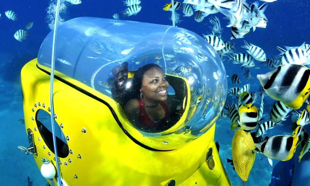 Aquabike Adventure Bora Bora Underwater Scooter Tahiti Com