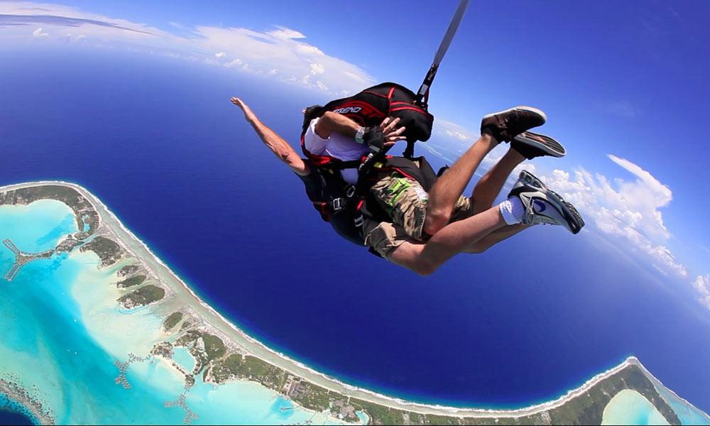 Bora Bora Skydiving Package Tandem Jump Tahiti Com
