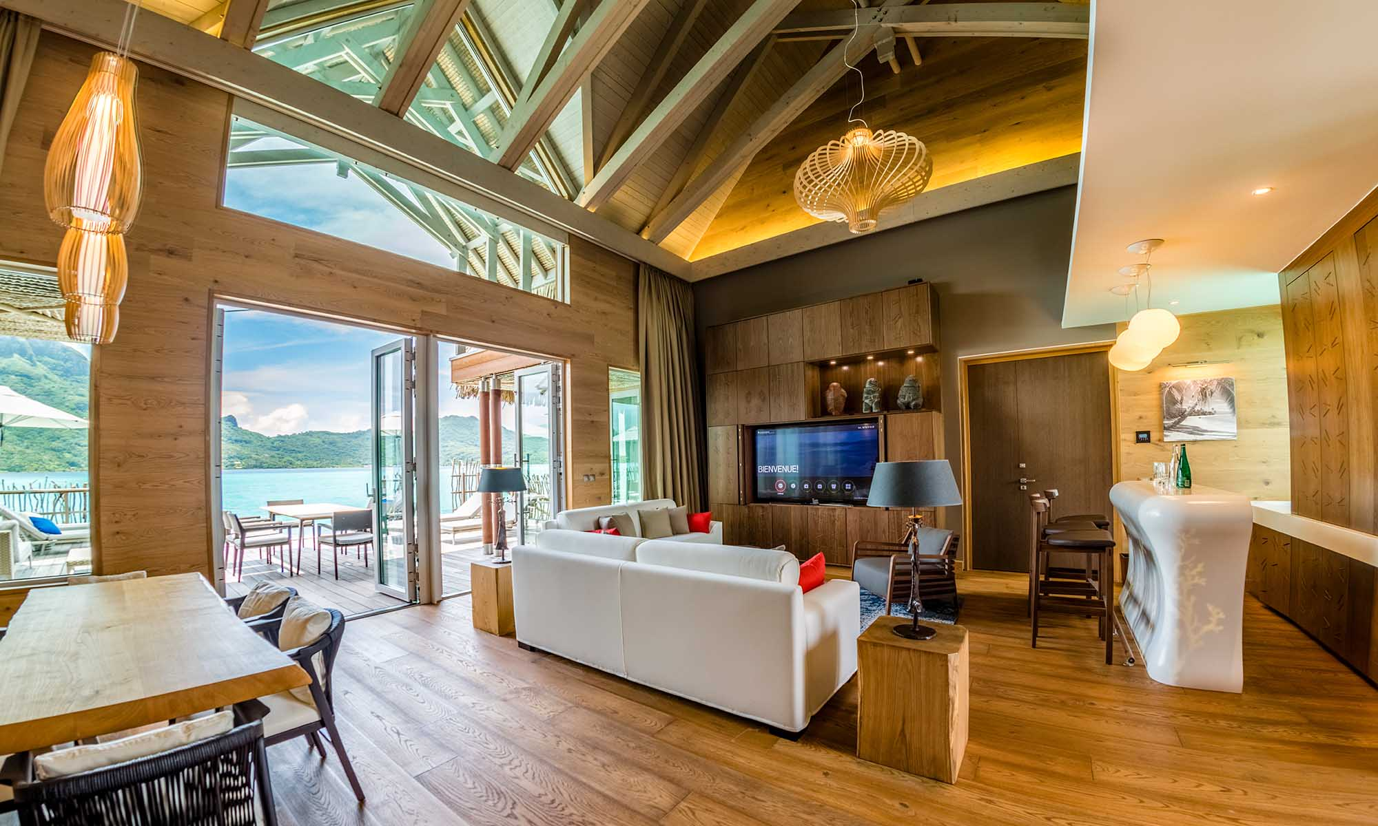 InterContinental Bora Bora Resort & Thalasso Spa, Brando Suite Living Room