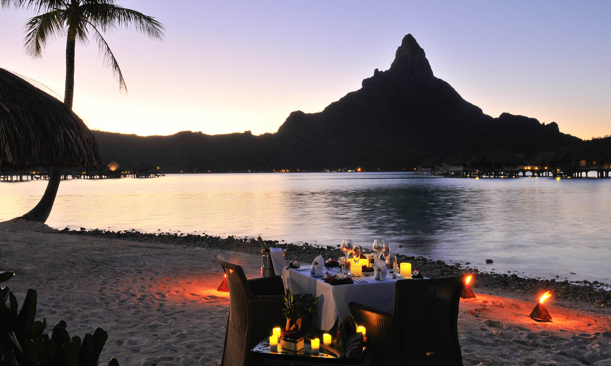 InterContinental Bora Bora Resort & Thalasso Spa, Romantic Dinner on the Beach