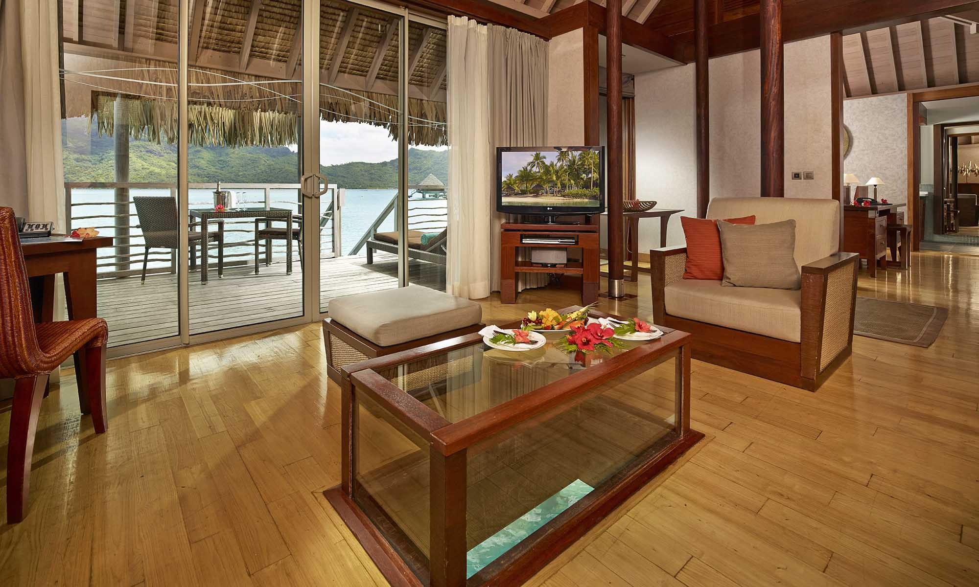 InterContinental Bora Bora Resort & Thalasso Spa, Overwater Villa Living Room