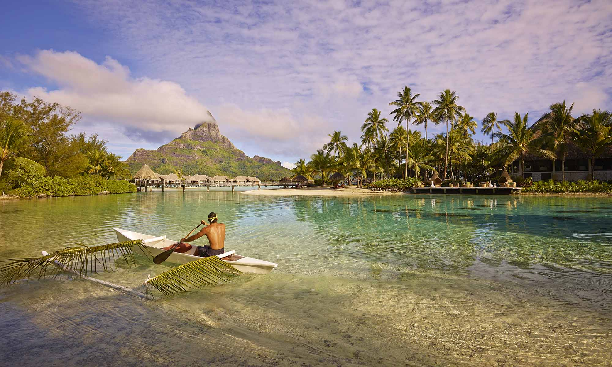 InterContinental Bora Bora Resort & Thalasso Spa, Traditional Outrigger Canoe