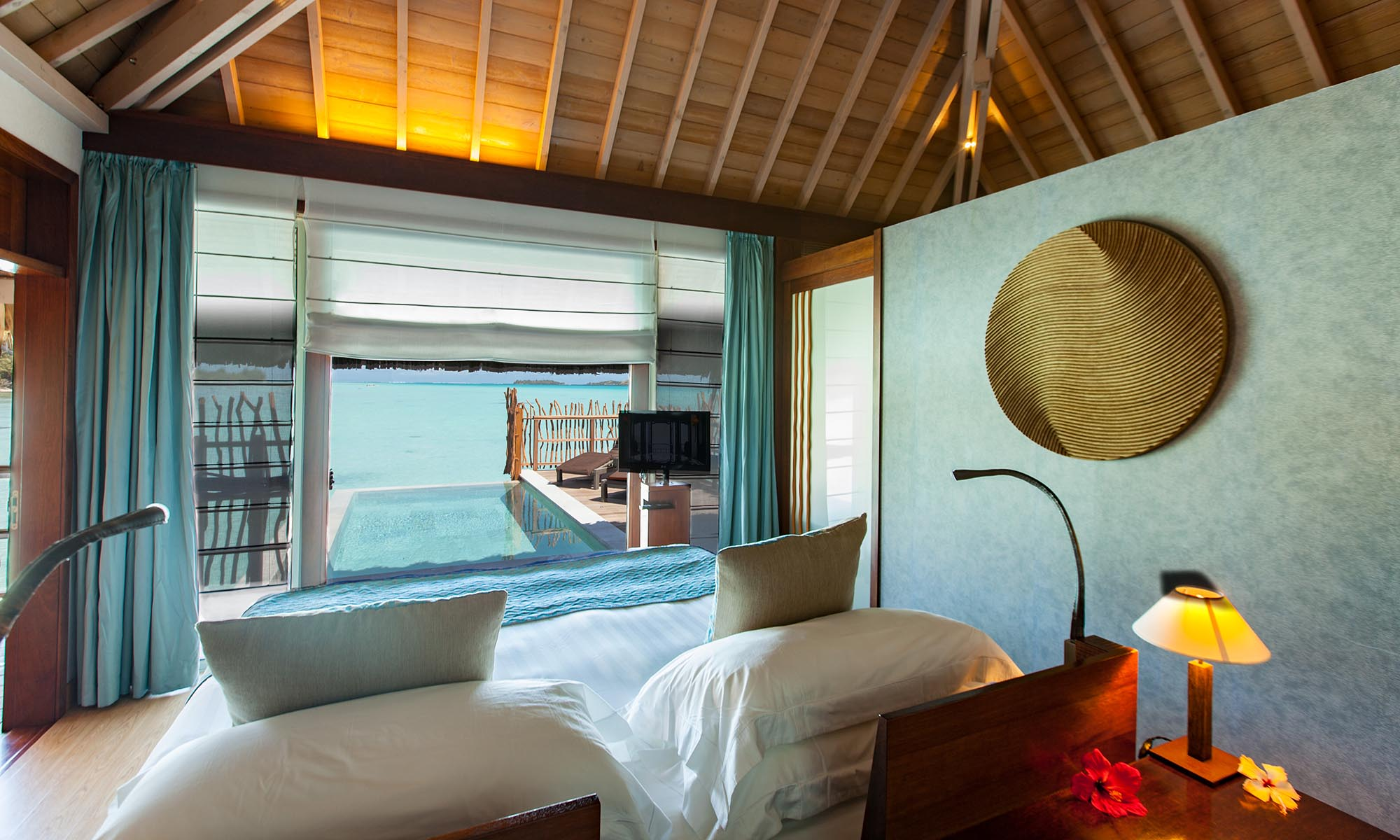 InterContinental Bora Bora Resort & Thalasso Spa, Pool Villa Bedroom