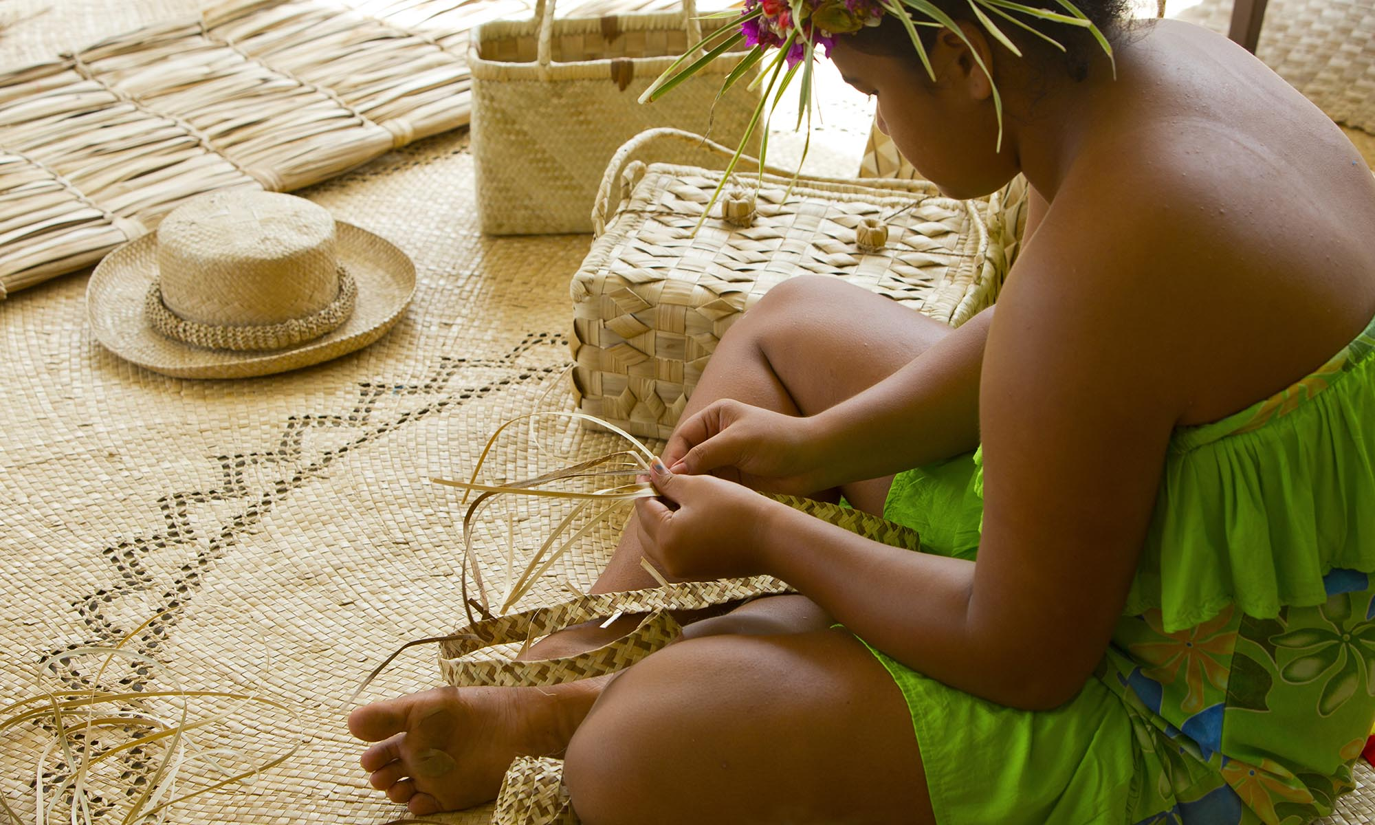 Traditional Straw Weaving on the Austral Islands
