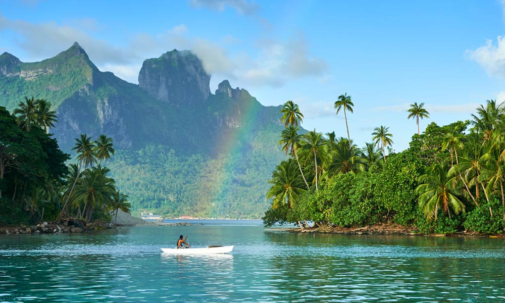 Conrad Bora Bora Nui, Mountains and Rainbows