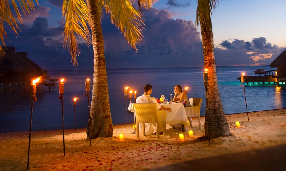 Conrad Bora Bora Nui, Romantic Beach Dinner