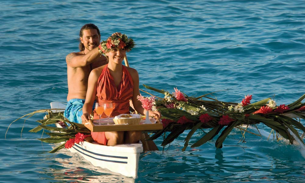 Four Seasons Resort Bora Bora, Canoe Breakfast