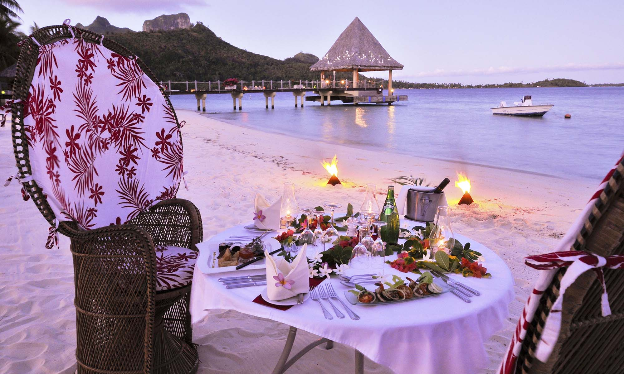 InterContinental Bora Bora Le Moana Resort, Romantic Dinner