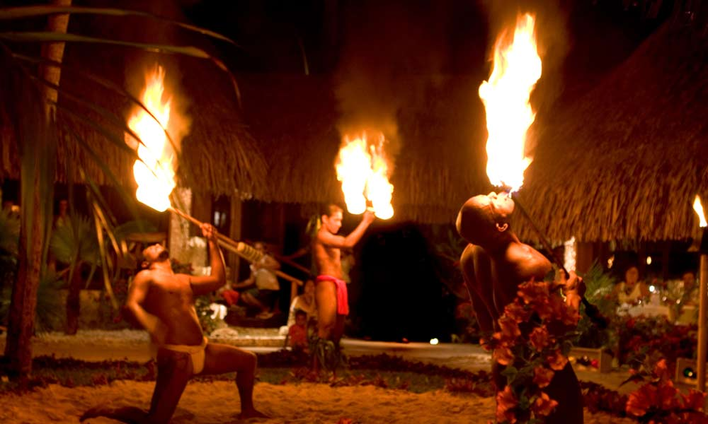 Fire Dancers at the InterContinental Bora Bora Le Moana