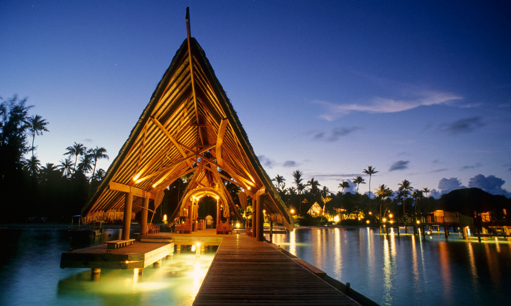 Bora Bora Pearl Beach Resort & Spa, Resort at Night