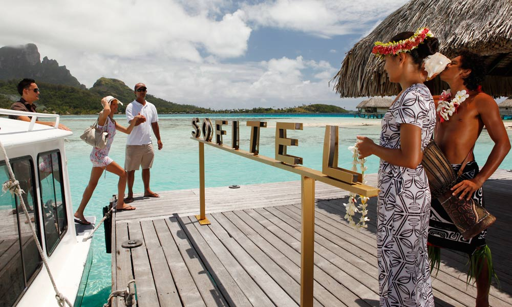 Sofitel Bora Bora Private Island, Arrival Welcoming