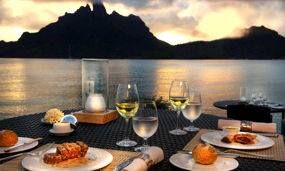 St Regis Bora Bora Resort, Romantic Dinner