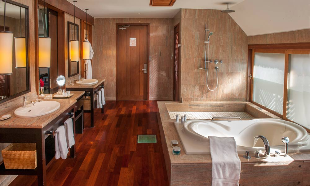 St Regis Bora Bora Resort, Guest Bathroom