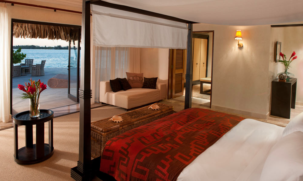 St Regis Bora Bora Resort, Royal Estate Master Bedroom