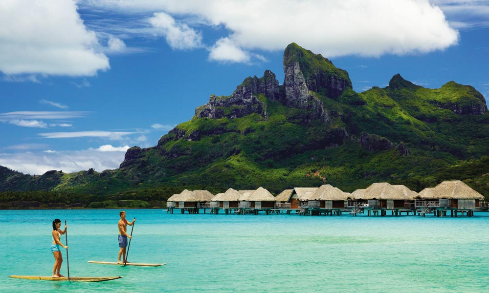 Stand Up Paddle Board in Bora Bora