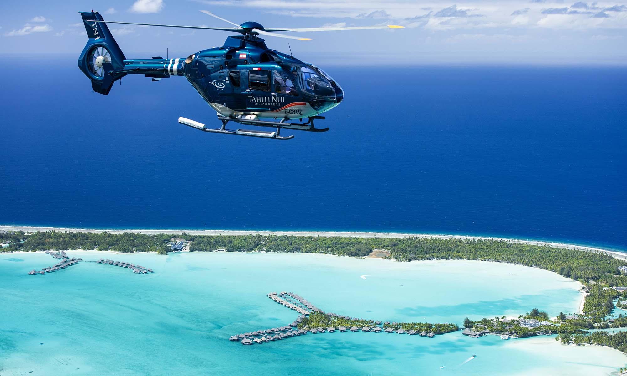 Heart of Tupai Scenic Helicopter Flight   Tahiti.com