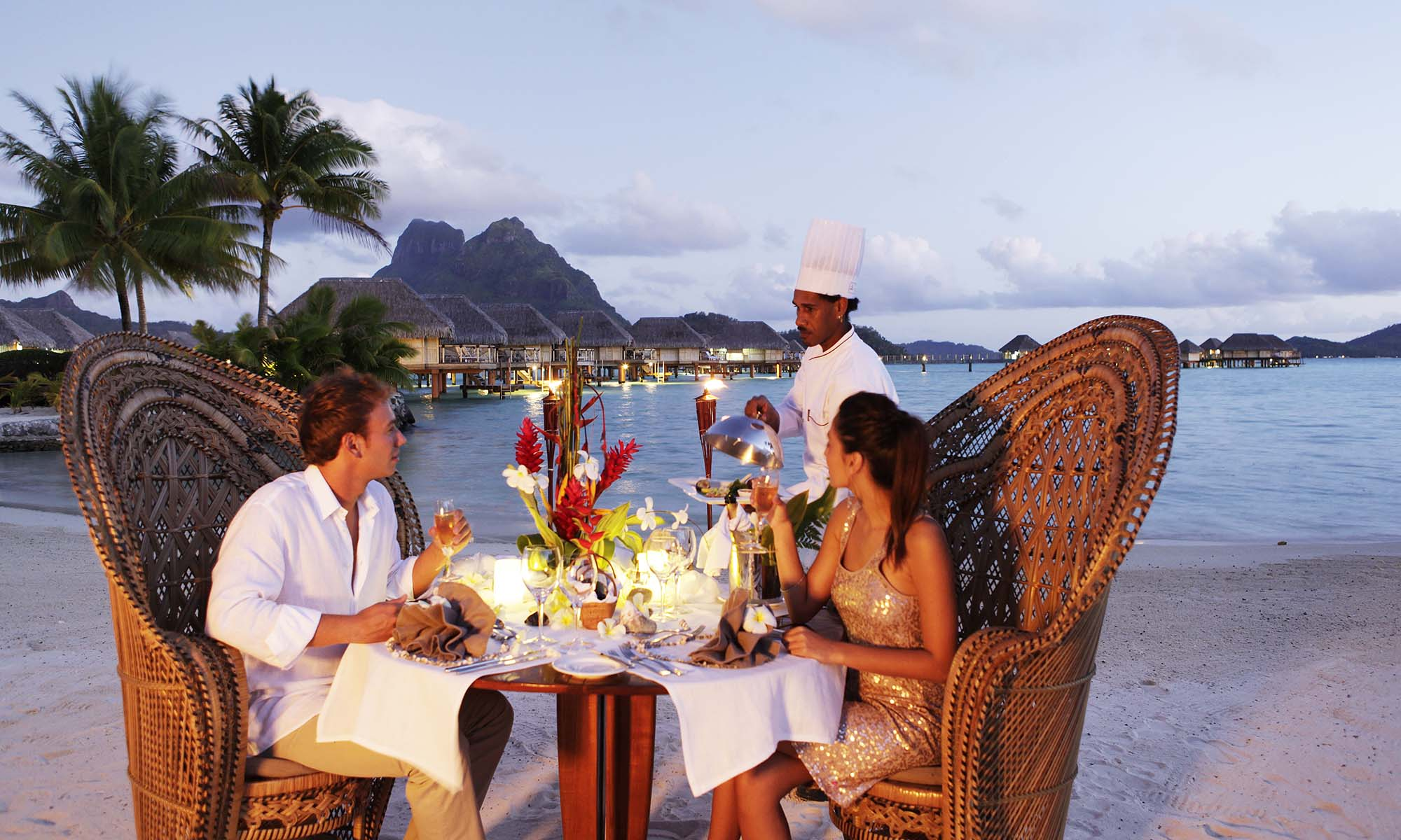Bora Bora Pearl Beach Resort & Spa, Romantic Beach Dinner