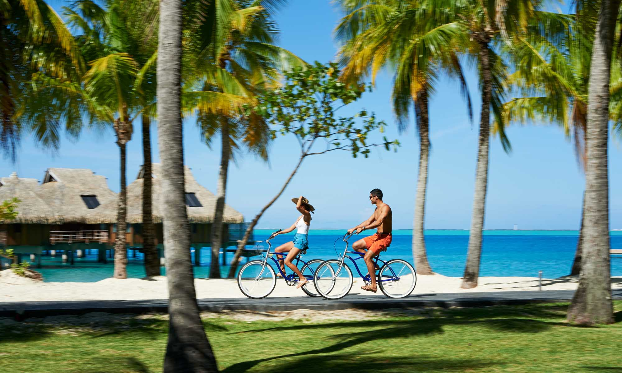 Conrad Bora Bora Nui, Bicycle Riding Through the Property