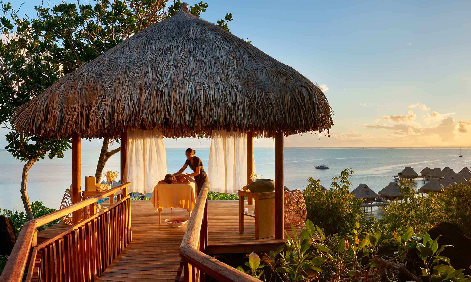 Conrad Bora Bora Nui, Private Massage at the Million Dollar View Platform