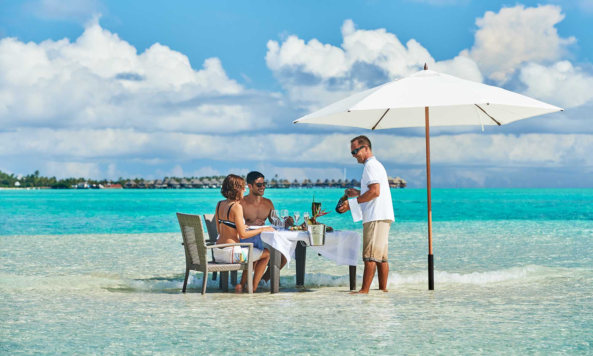 Conrad Bora Bora Nui, Lunch in the Water on a Private Motu