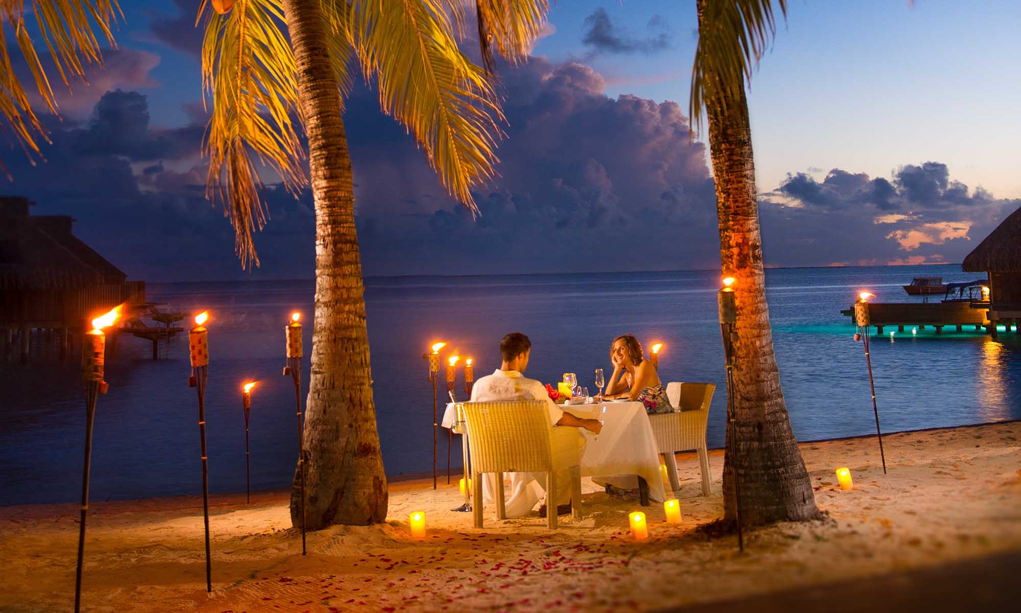 Conrad Bora Bora Nui, Romantic Dinner