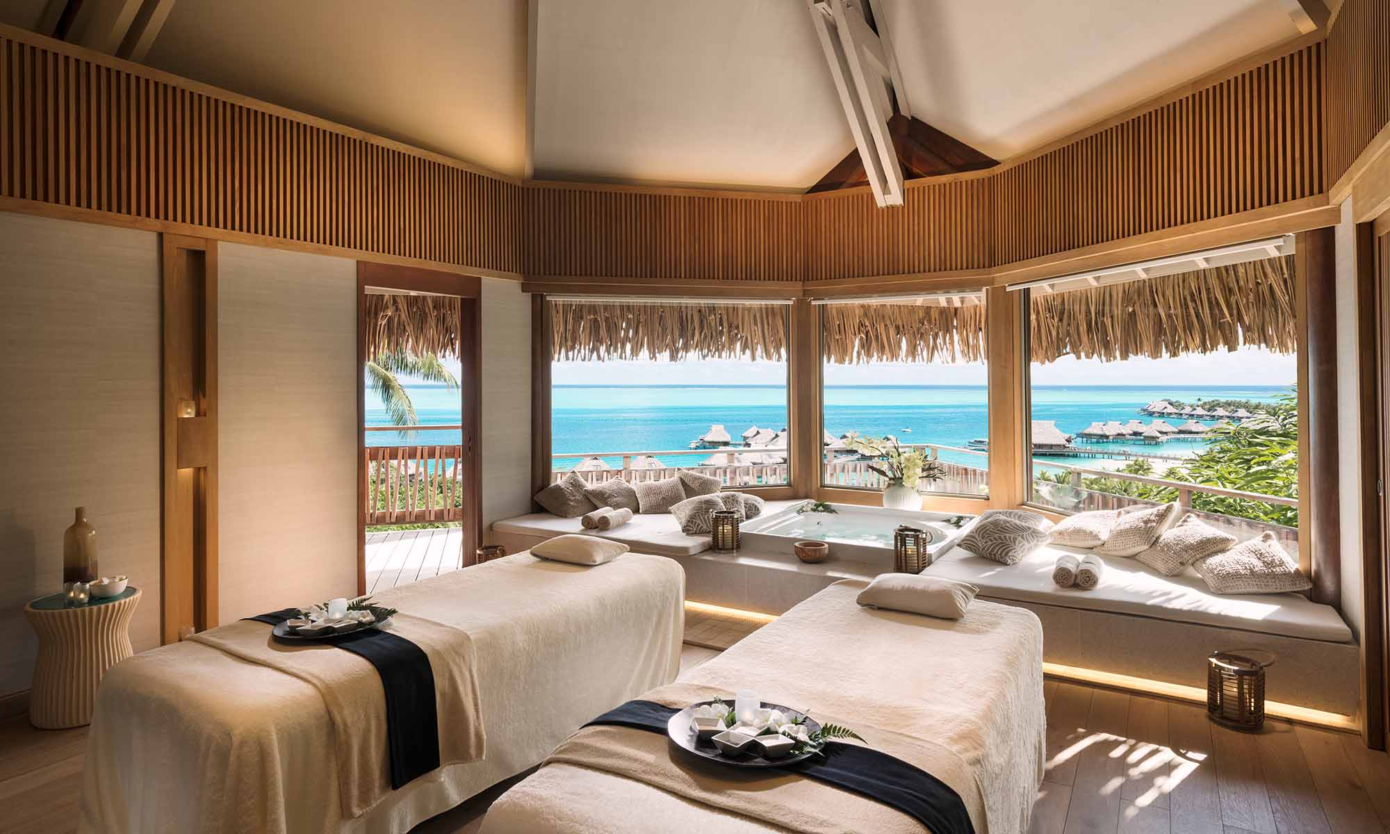 Conrad Bora Bora Nui, Hina Spa Couples Massage Treatment Room