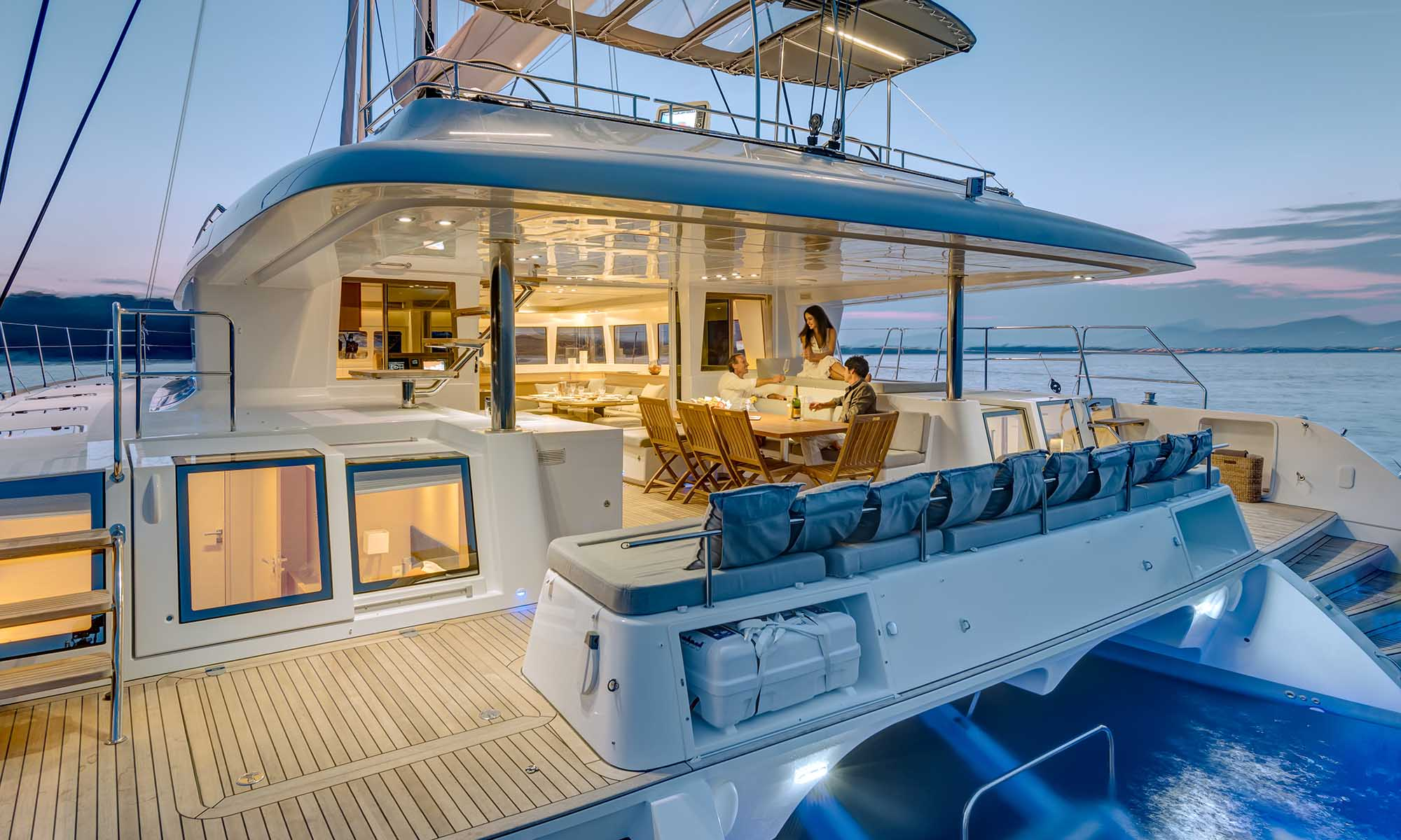 Dream Yacht Charter, Lagoon 620 Outdoor Dining Area