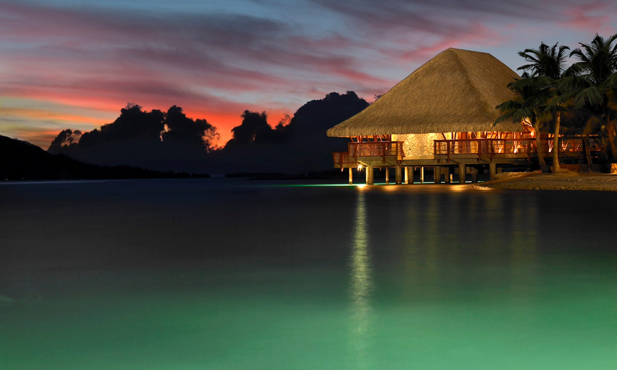 Four Seasons Resort Bora Bora, Dusk