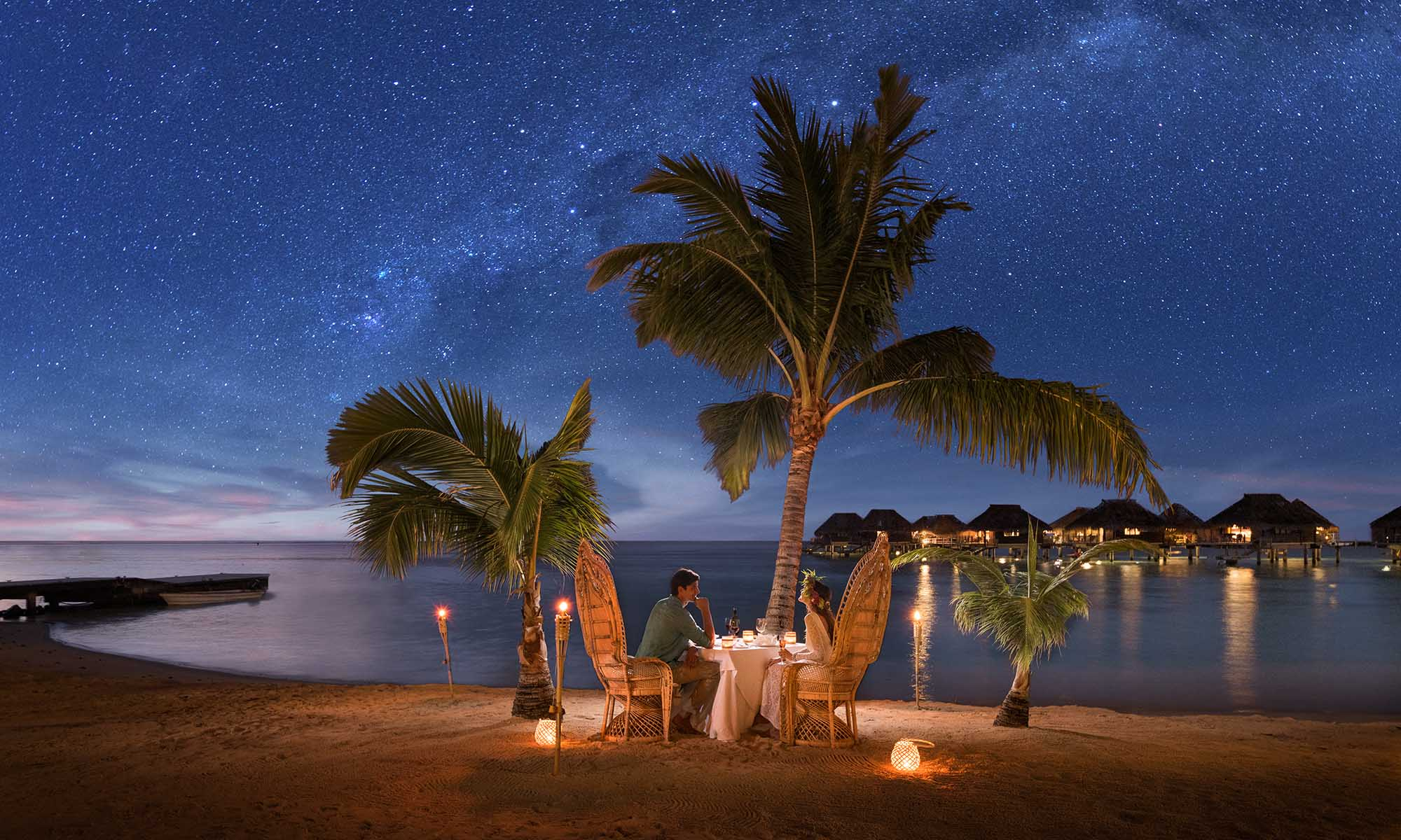 Hilton Moorea, Romantic Dinner on the Beach