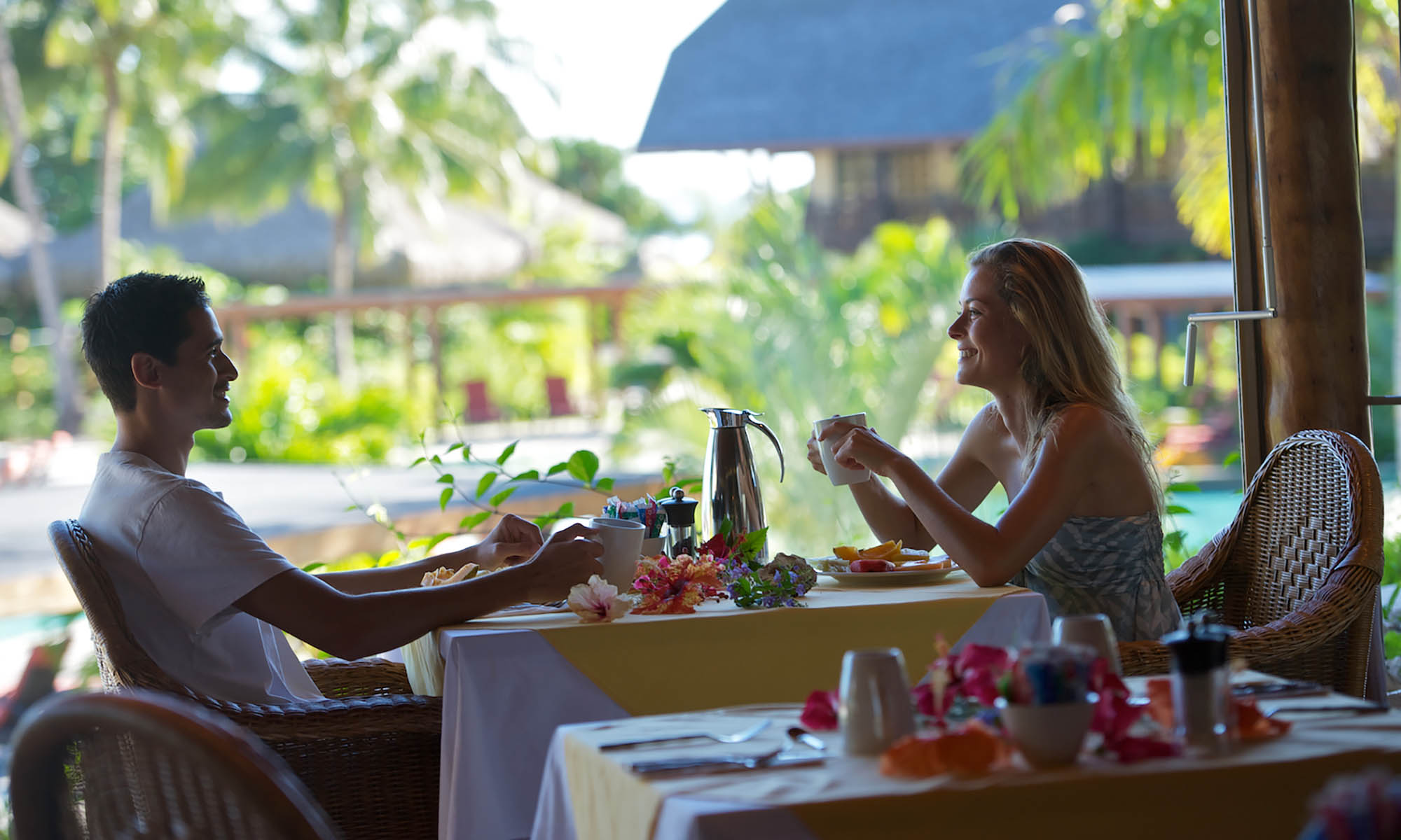 InterContinental Moorea Resort and Spa, Breakfast at Fare Nui Restaurant