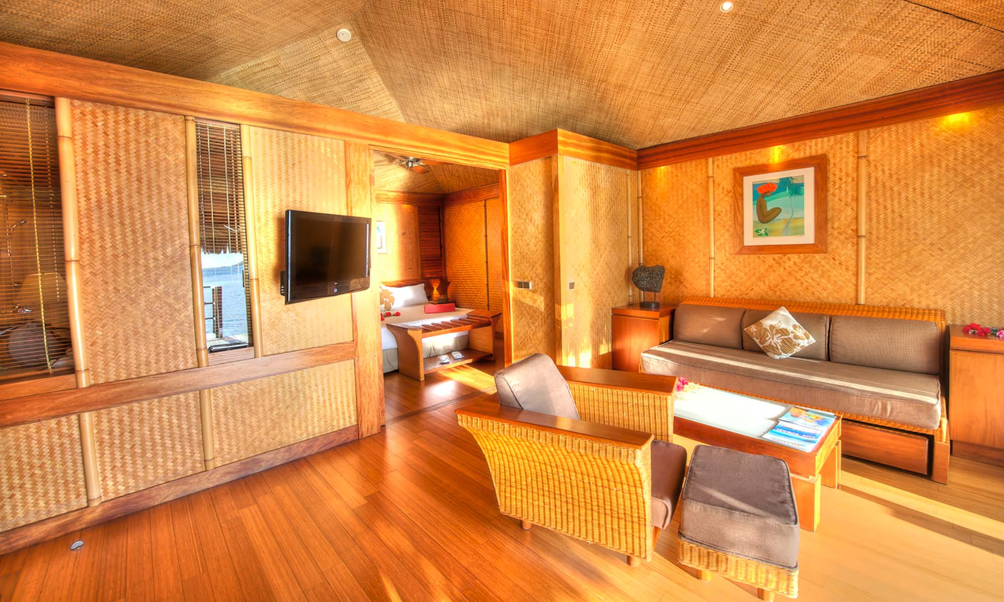 InterContinental Moorea Resort & Spa, Beach Bungalow Interior