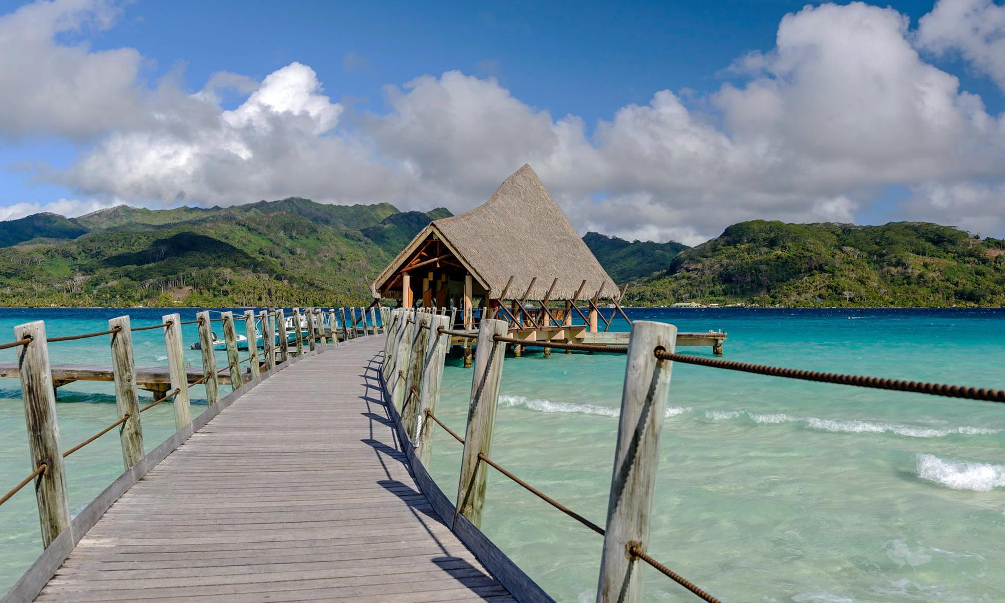 Le Taha'a Island Resort & Spa, Arrival Dock