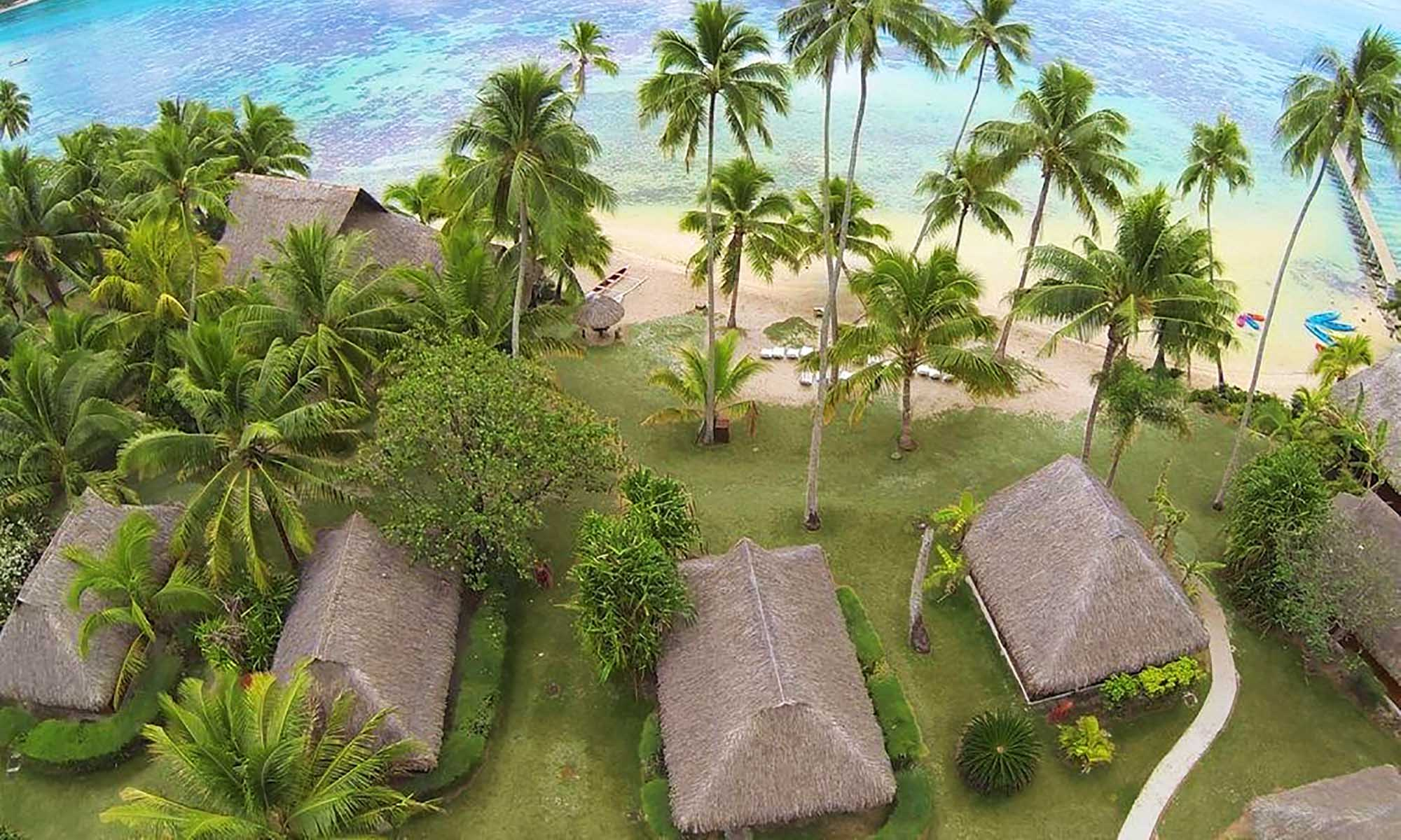 Les Tipaniers Hotel Moorea, Aerial View of the Bungalows