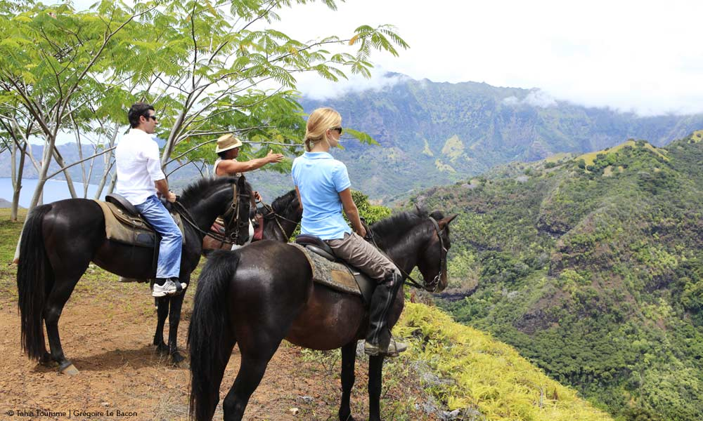 Exploring Hiva Oa on horseback
