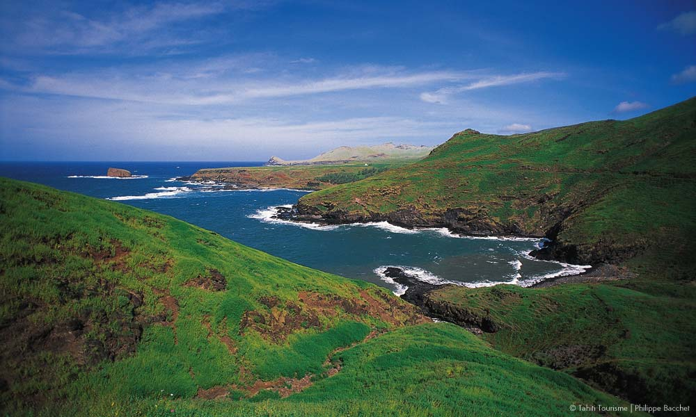 Marquesas rugged coast