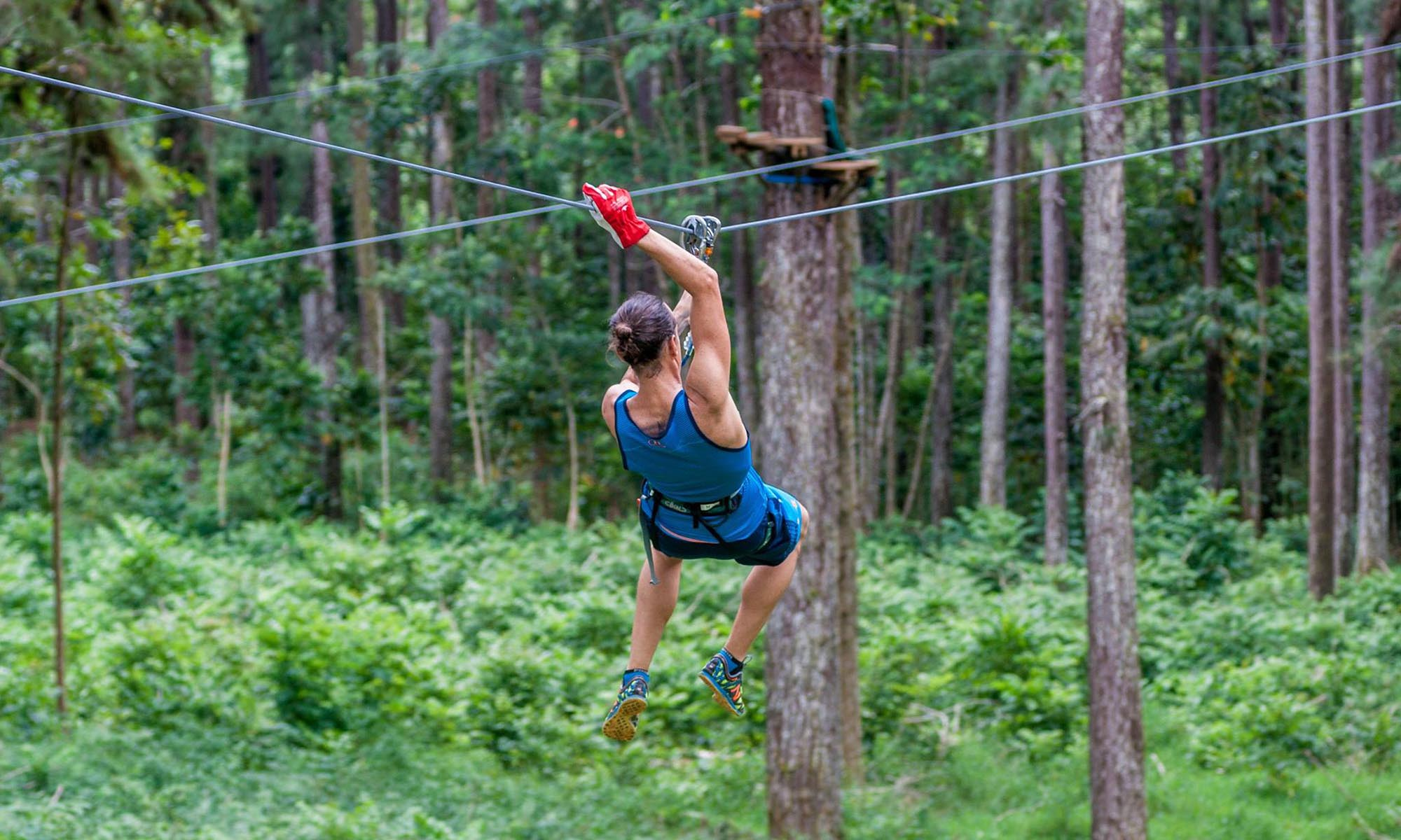 Ziplining Adventures on Moorea