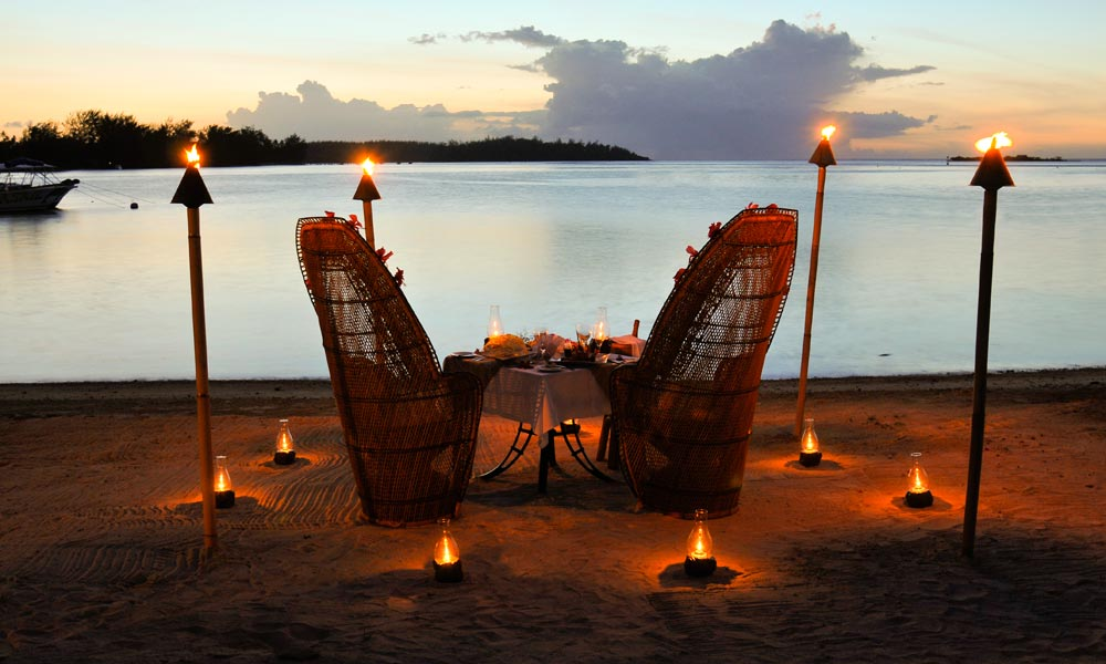InterContinental Moorea Resort and Spa, Romantic Dinner