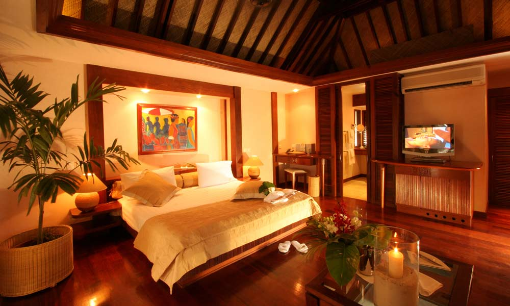 Manava Beach Resort and Spa,  Bungalow Interior