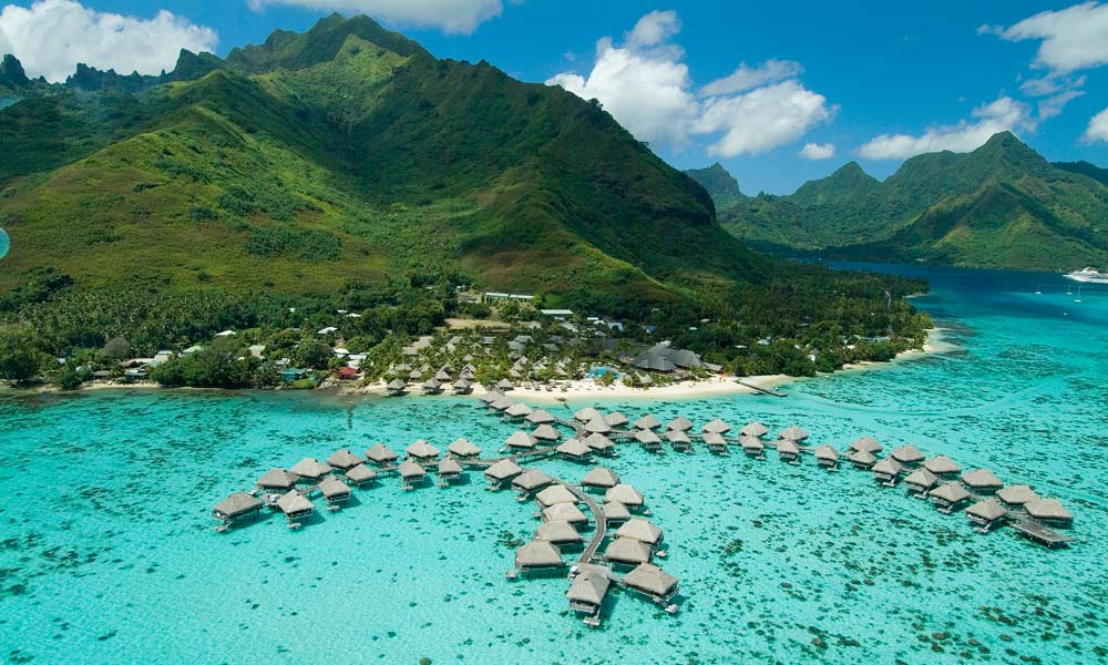 Hilton Moorea Lagoon Resort & Spa, Aerial View
