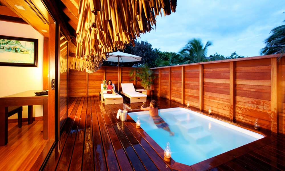 Hilton Moorea Lagoon Resort & Spa, Deluxe Garden Pool Bungalow