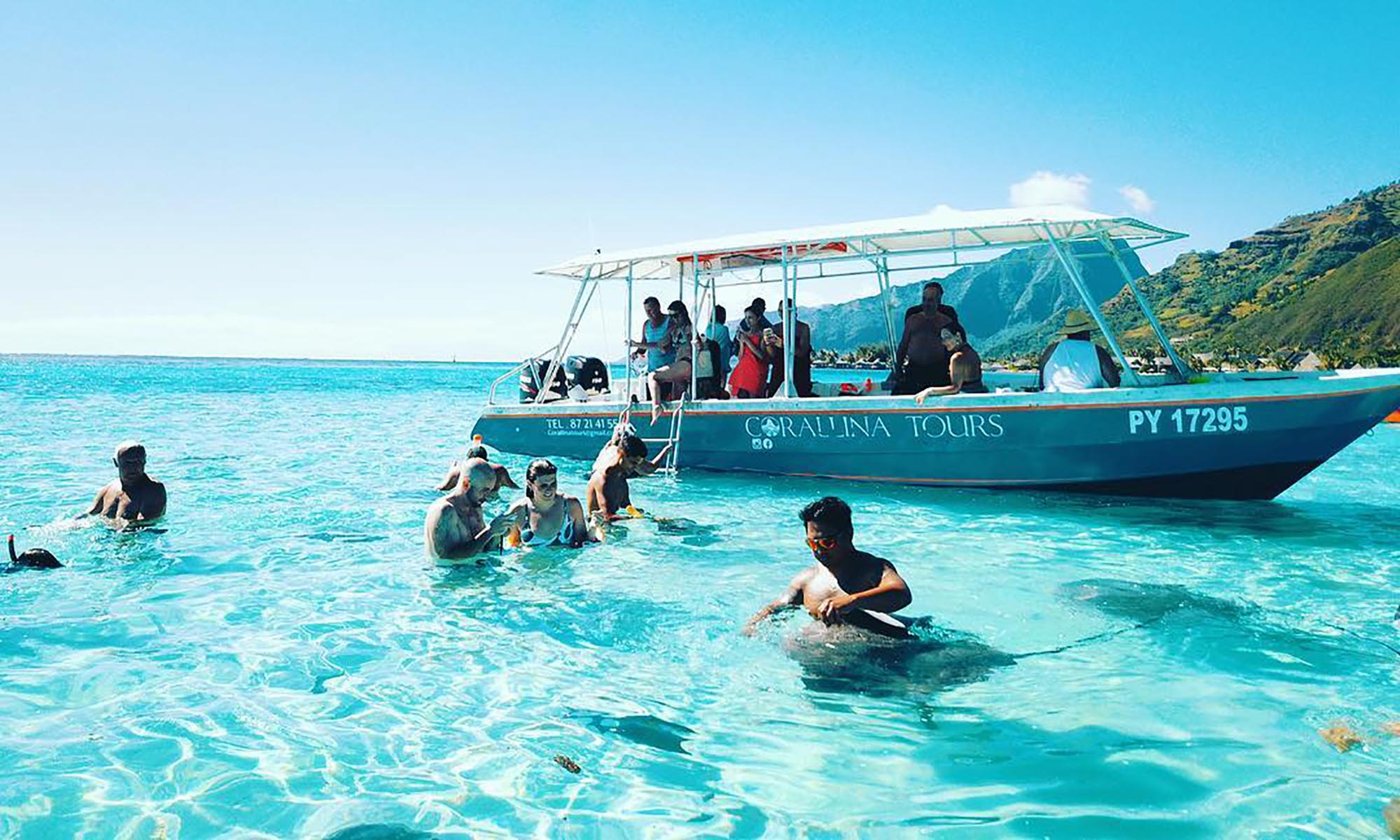 Moorea Lagoon Cruise & Whale Watching with Corallina Tours