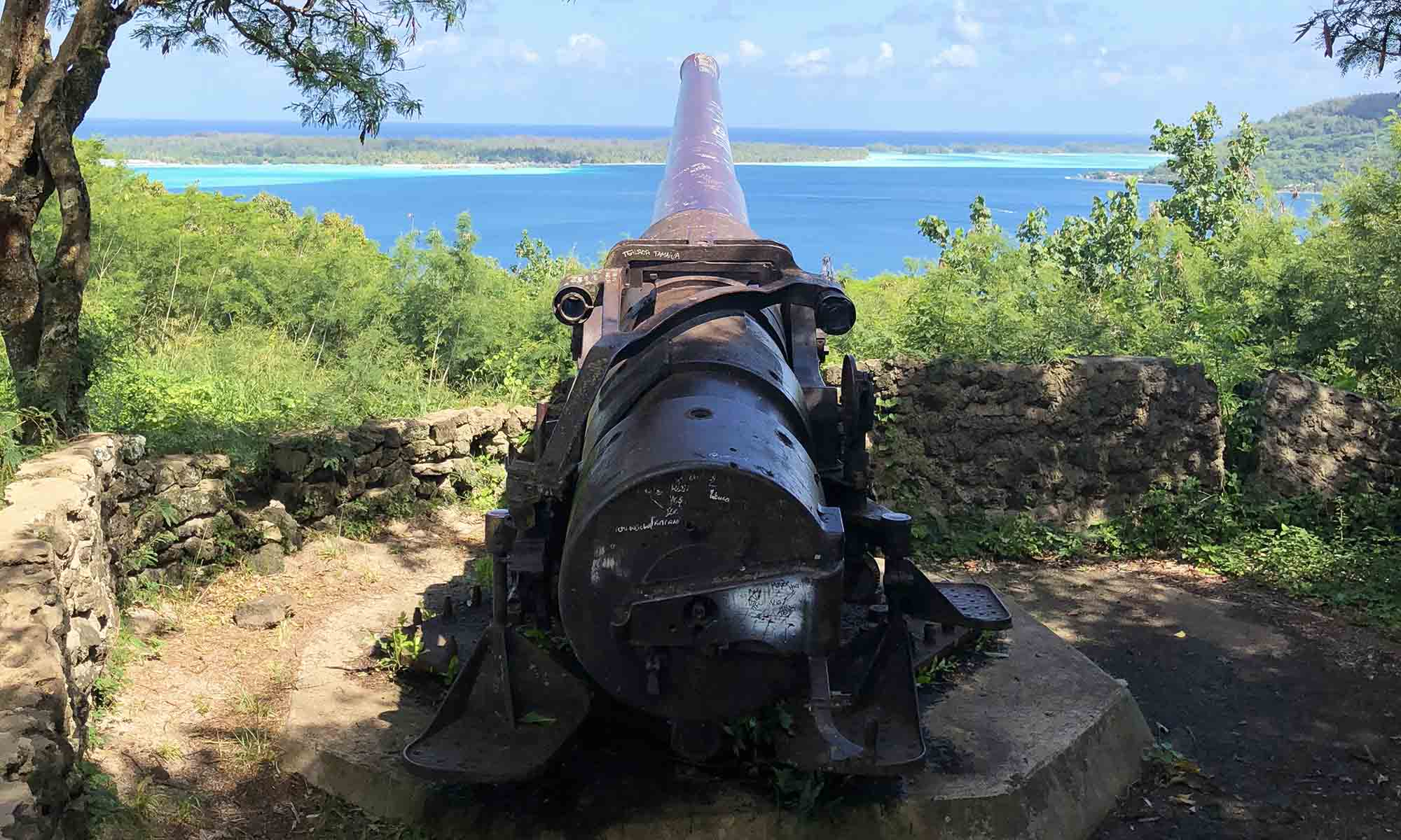 Natura Discovery, World War II Cannon on Bora Bora