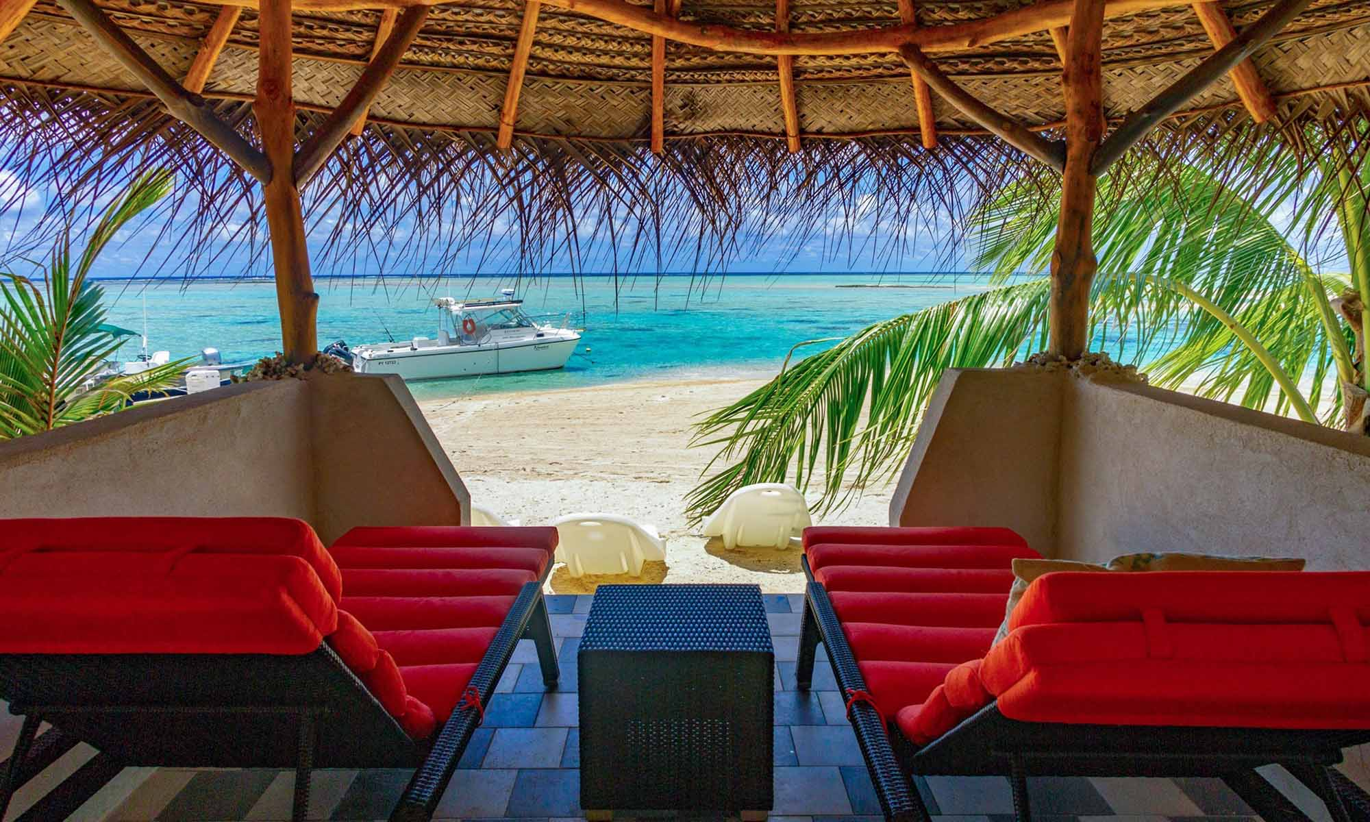 Ninamu Resort, View from the Beach Cabanas