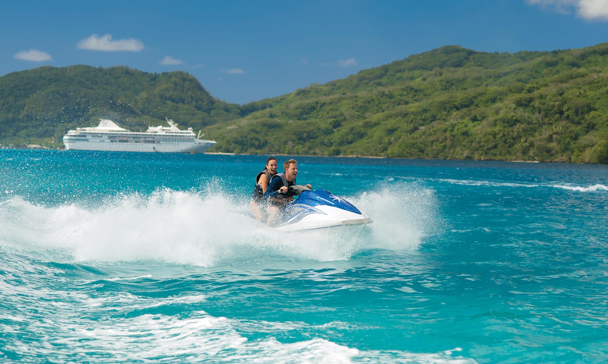 Paul Gauguin Cruise, Jet Skiing on Huahine