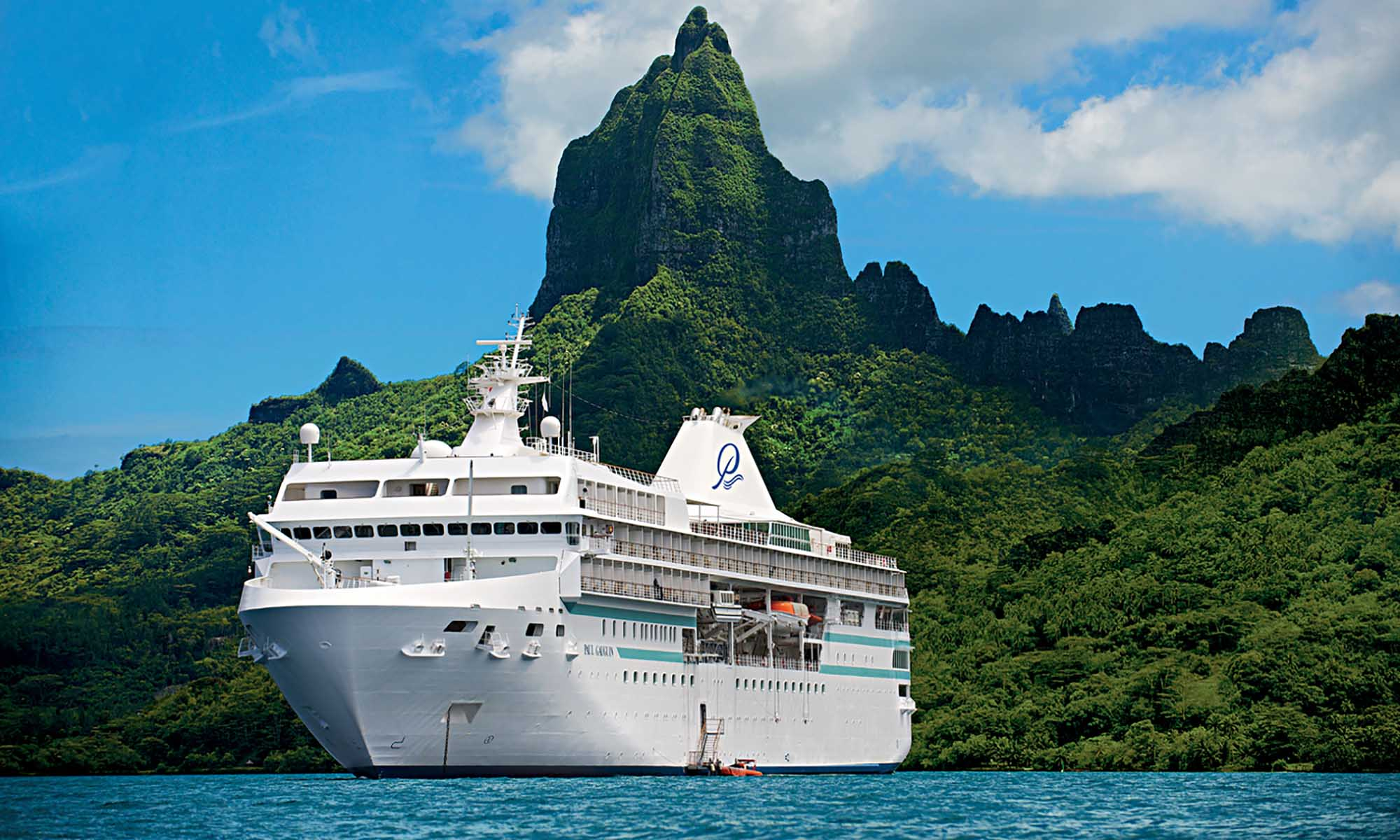 Paul Gauguin Cruise Ship on Moorea