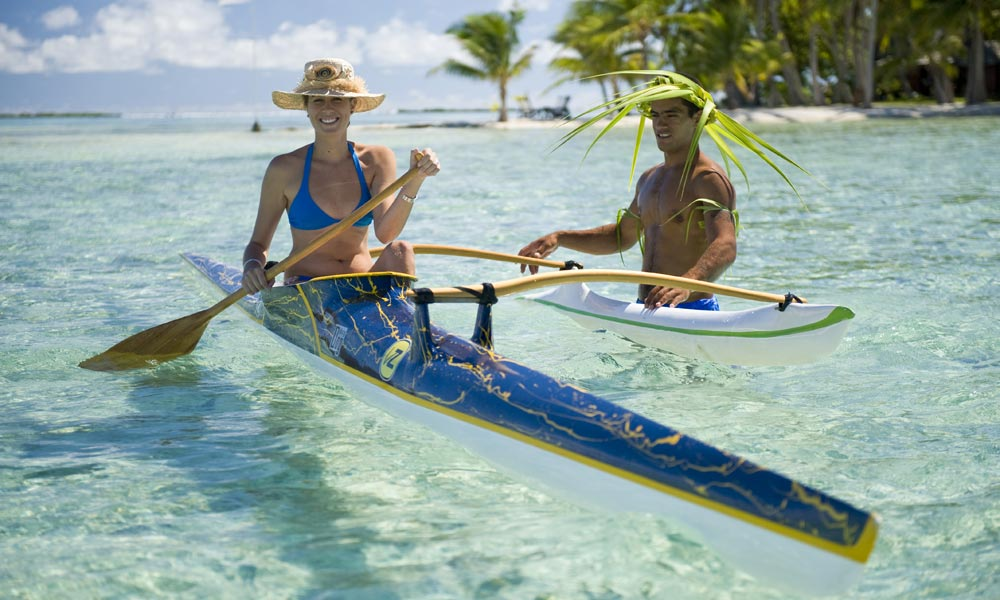 Vahine Island Private Resort, Learning to Paddle
