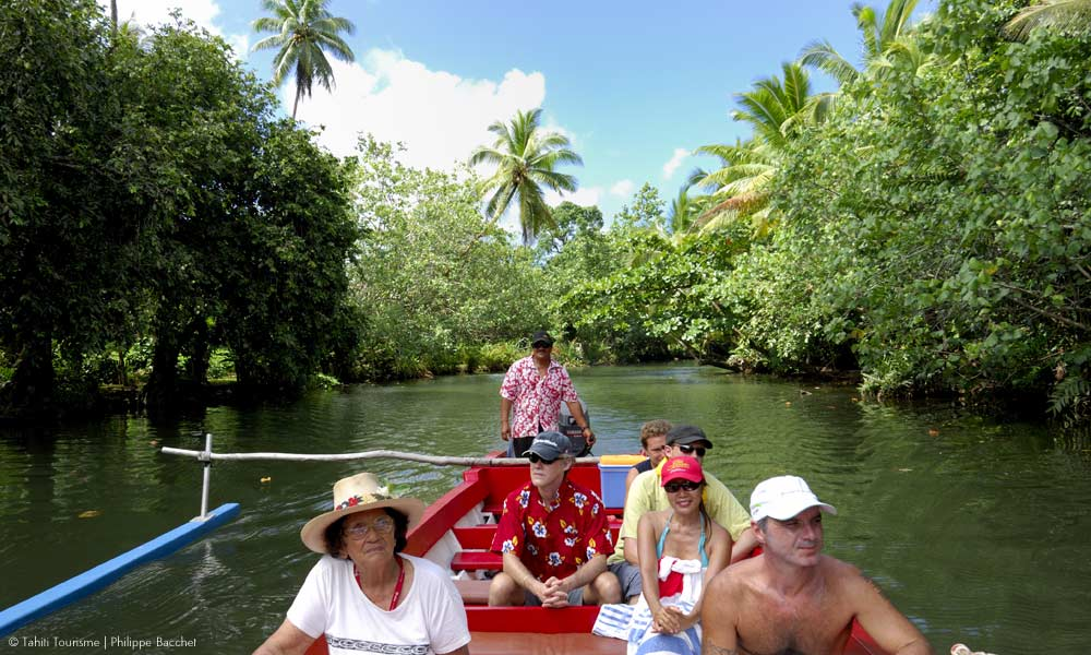 Cruising Faaroa River, Tahiti's only navigable river