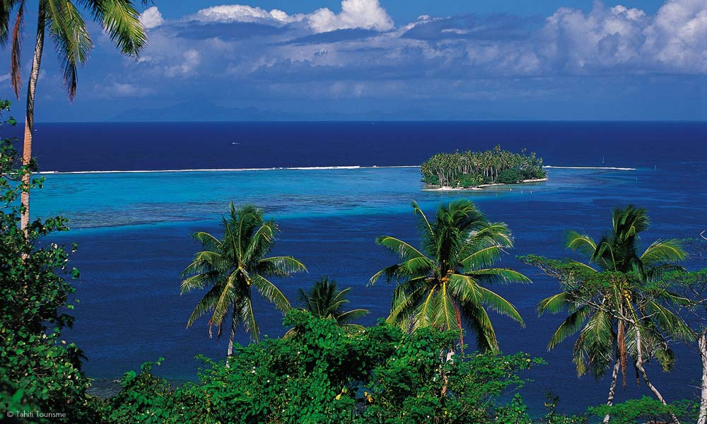 One of Raiatea's many islets or motu