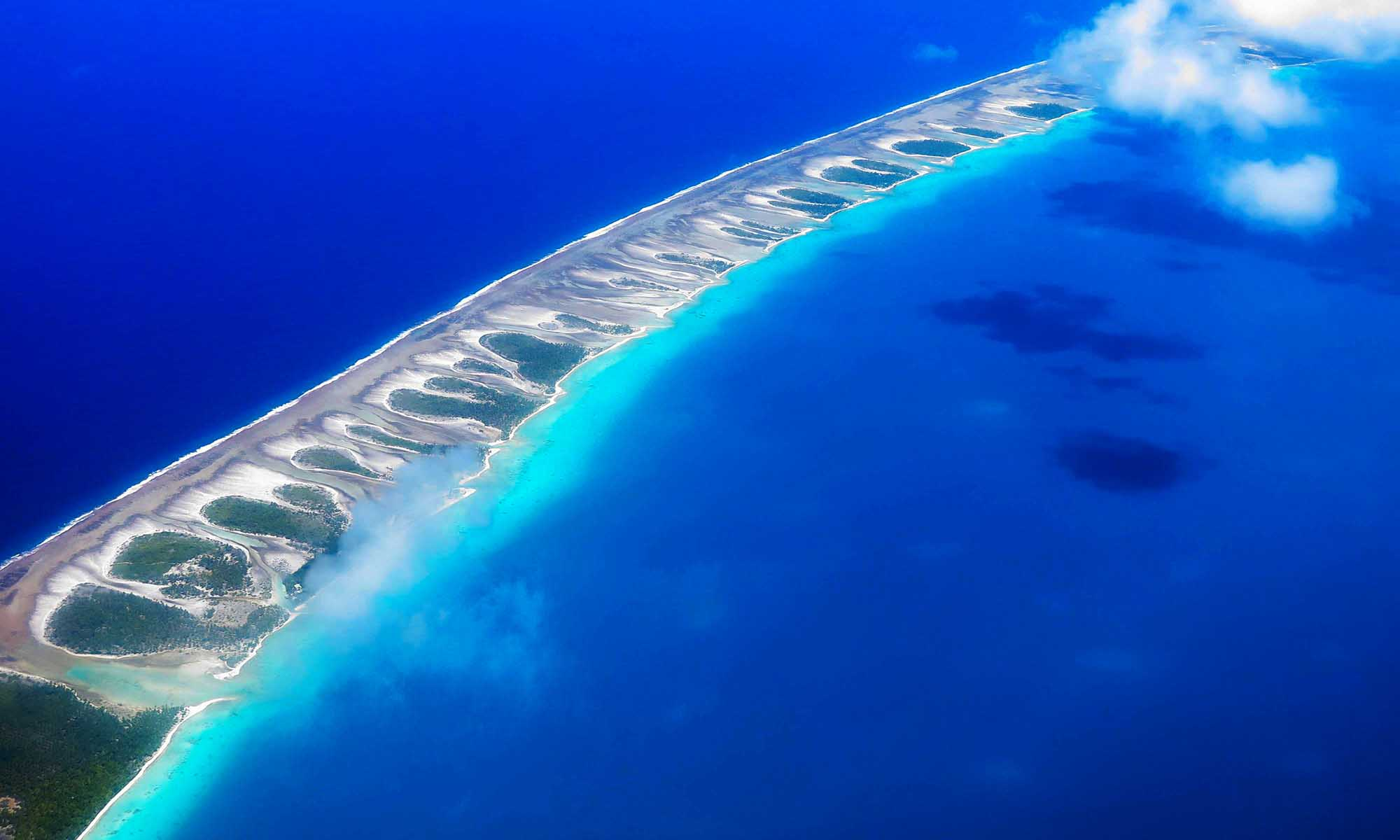 Rangiroa's Atoll from the Sky
