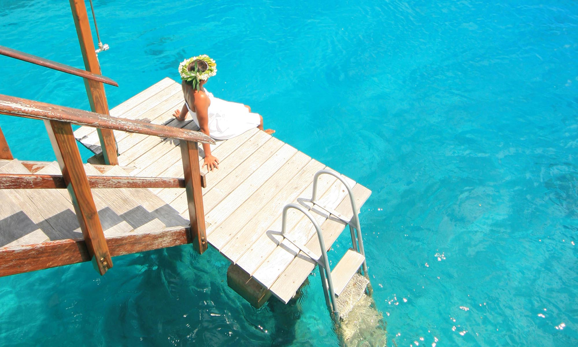 Royal Huahine, Overwater Bungalow Deck